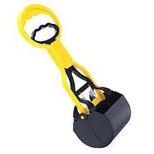 A yellow and black poop scooper.