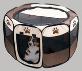 Foldable Portable Pet Playpen - Small. With a dog inside.