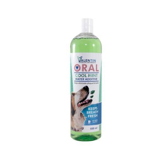 Valentin Oral Cool Mint Water Additive for Dogs - 500ml
