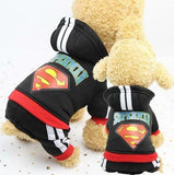 Dog Superman Tracksuit - Blue or Black Pet Accessories 4aPet - 4aPet