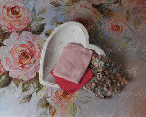 RTS Painted Roses Heart Bundle