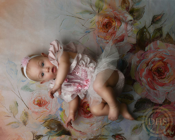 RTS Painted Roses Newborn