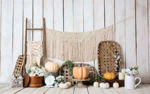 (AC) Boho Farm House Pumpkins