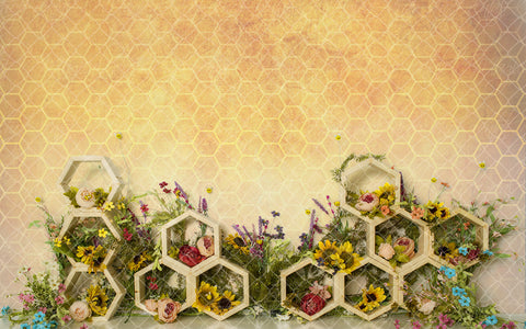 Floral Bee Hive 001