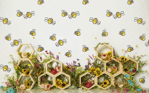 Floral Bee Hive 002