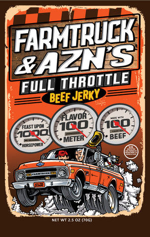Farmtruck & AZN's Full Throttle Beef Jerky - The GOAT Beef Jerky Company