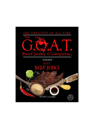 The G.O.A.T. Beef Jerky Company - Hot Flavor - The GOAT Beef Jerky Company