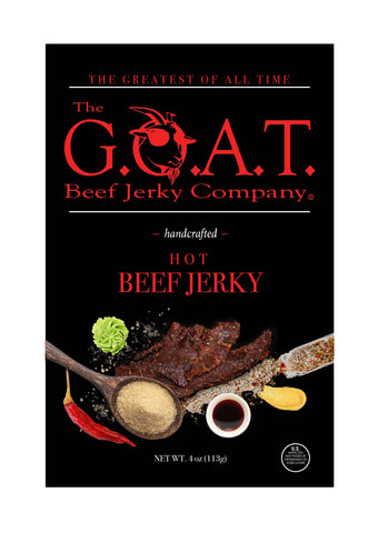 The G.O.A.T. Beef Jerky Company - Hot Flavor