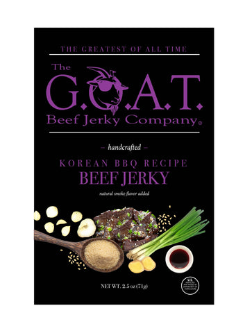 The G.O.A.T. Beef Jerky Company - Korean Barbecue Flavor - The GOAT Beef Jerky Company