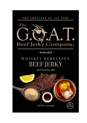 The G.O.A.T. Beef Jerky Company - Whiskey Rebellion Flavor - The GOAT Beef Jerky Company