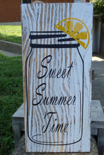Load image into Gallery viewer, Sweet Summer Time Wood Vinyl Door Sign Home Accent