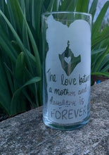 Load image into Gallery viewer, Etched Glass Vase for Flowers Sandblast Handmade - Heartfelt Giver
