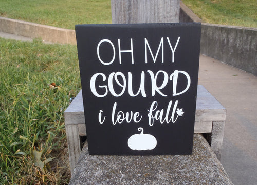 Fall Decorations Gourd I Love Fall Wood Vinyl Signs - Heartfelt Giver