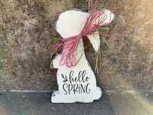 Load image into Gallery viewer, Hello Spring Sign For Front Door Decor - Heartfelt Giver