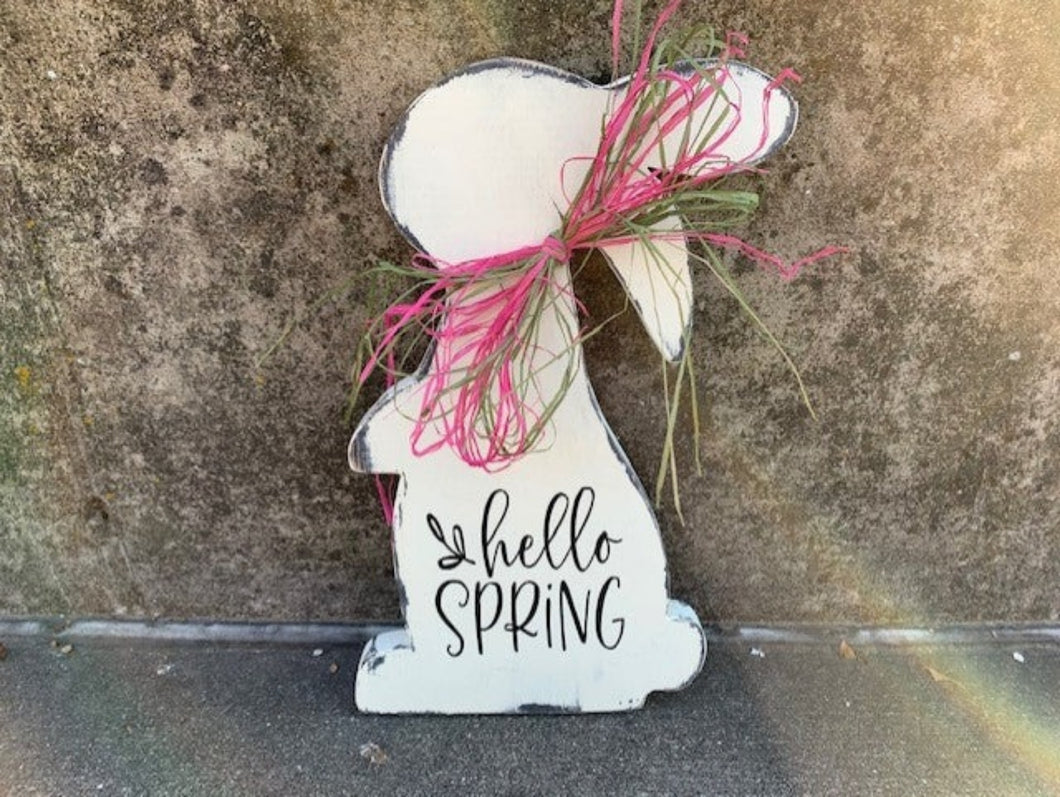 Hello Spring Sign For Front Door Decor - Heartfelt Giver