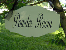 Load image into Gallery viewer, Bathroom Door Decor Powder Room Wood Vinyl Sign Interior Directional Bathroom Sign Elegant Design For Parties Family Gatherings Cottage Feel