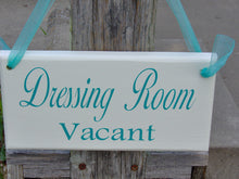 Load image into Gallery viewer, Dressing Room Vacant Occupied Wood Sign Vinyl 2 Sided Sign Office Supply Sign Business Sign Office Decor Boutique Store Shop Door Hanger