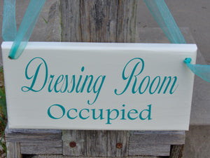 Dressing Room Vacant Occupied Wood Sign Vinyl 2 Sided Sign Office Supply Sign Business Sign Office Decor Boutique Store Shop Door Hanger