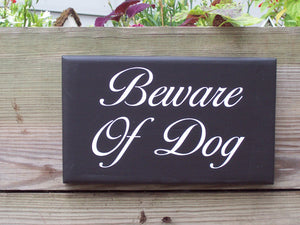 Beware Of Dog Wood Vinyl Outdoor Yard Fence Gate Sign Personalized Gift Dog Owner Pet Supplies Home Decor Security Warning Private Property