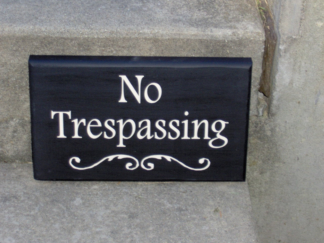 No Trespassing Wood Vinyl Sign Do Not Disturb Private Property Outdoor Decor Wall Sign Porch Gate Sign Garage Sign Wall Hangings Yard Decor