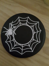 Load image into Gallery viewer, Halloween Decor Spider Web Wood Candle Mat Halloween Holiday Table Decor Home Decor Candle Holder Candle Display Risers Day Of Dead Party