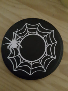 Halloween Decor Spider Web Wood Candle Mat Halloween Holiday Table Decor Home Decor Candle Holder Candle Display Risers Day Of Dead Party