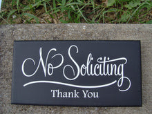 Load image into Gallery viewer, No Soliciting Sign Thank You Wood Vinyl Sign Retro Modern Art Everyday Garden Yard Decoration Private Property - Heartfelt Giver