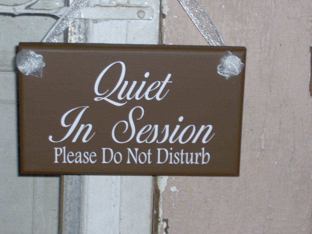 Quiet In Session Please Do Not Disturb Wood Vinyl Sign Bath Beauty Massag Treatment Salon Spa Hair Business Therapy Doctor Door Wall Hanging