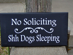Dog Signs No Soliciting Shh Dogs Sleeping Wood Vinyl Sign Pet Supplies Yard Sign Porch Sign Outdoor Garden Sign Dog Lover Gifts Dog Sign