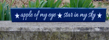 Load image into Gallery viewer, Kids Room Play Room Playroom Decor Toy Room Gathering Space Wood Sign Vinyl Apple Of My Eye Stars In My Sky Navy Blue Home Birthday Gift