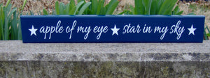 Kids Room Play Room Playroom Decor Toy Room Gathering Space Wood Sign Vinyl Apple Of My Eye Stars In My Sky Navy Blue Home Birthday Gift