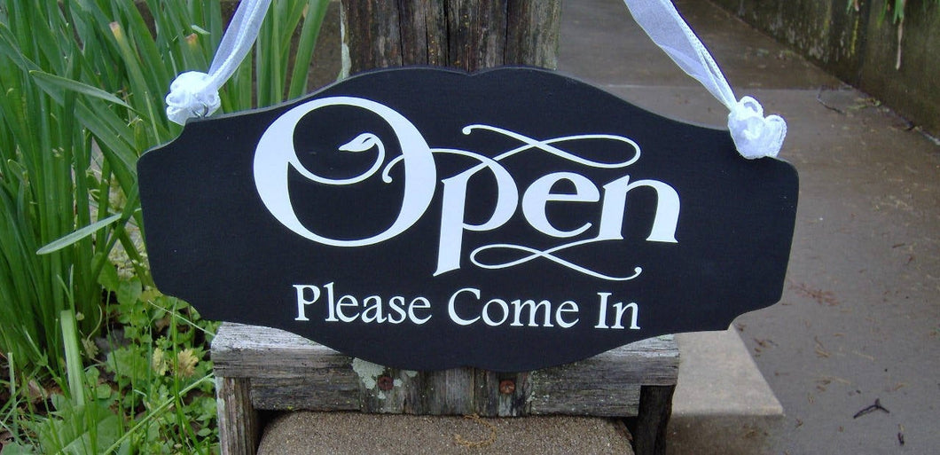 Open Please Come In Closed Please Come Again Open Closed Office Supplies Spa Salon Health Beauty Store Business Welcome Sign Business Sign