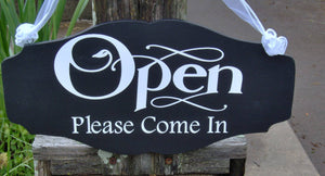 Open Please Come In Closed Please Come Again Open Closed Office Supplies Spa Salon Health Beauty Store Business Welcome Sign Business Sign - Heartfelt Giver