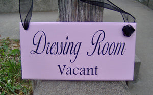 Dressing Room Vacant Occupied Wood Sign Vinyl 2 Sided Sign Business Office Decor Office Supply Sign Door Hanger Pink Boutique Salon Spa Sign - Heartfelt Giver