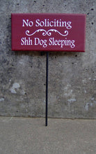 Load image into Gallery viewer, No Soliciting Shh Dogs Sleeping Wood Signs Vinyl Stake Beware Of Dog Sign Warning Security Guard Dog Family Pet Supplies Yard Sign Door Sign - Heartfelt Giver