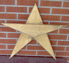 Load image into Gallery viewer, Wooden Star Five Point Star Rustic Farmhouse Primitive Porch Decor Barn Star Wall Decor Wall Hangings Door Decor Patriotic Star Wood Cutout - Heartfelt Giver