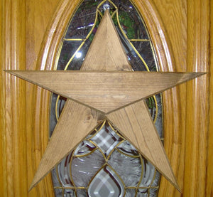 Wooden Star Five Point Star Rustic Farmhouse Primitive Porch Decor Barn Star Wall Decor Wall Hangings Door Decor Patriotic Star Wood Cutout - Heartfelt Giver
