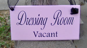 Dressing Room Vacant Occupied Wood Sign Vinyl 2 Sided Sign Business Office Decor Office Supply Sign Door Hanger Pink Boutique Salon Spa Sign