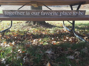 Together Is Our Favorite Place To Be Wood Vinyl Sign Pallet Wall Hanging Home Decor Porch Bedroom Family Farmhouse Distressed Together Sign