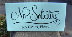 No Soliciting Sign No Flyers Please Wood Vinyl Sign Outdoor Garden Yard Porch Home Decor Sign Do Not Disturb New Home Gift Housewarming Gift