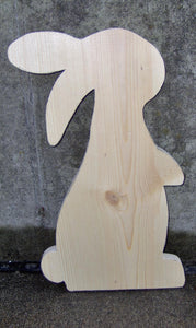Bunny Rabbit Unfinished Wood Cutout Easter Holiday Decor DIY Make Take Arts Craft Supplies Raw Materials Wood Blank Board Wood Shapes Supply