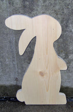 Load image into Gallery viewer, Bunny Rabbit Unfinished Wood Cutout Easter Holiday Decor DIY Make Take Arts Craft Supplies Raw Materials Wood Blank Board Wood Shapes Supply