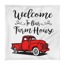 Load image into Gallery viewer, Welcome To Our Farmhouse Red Truck Pillow Case Pillow Cover Farmhouse Rustic Style Sign Porch Home Decor Throw Pillows Decorative Unique Art - Heartfelt Giver