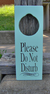 Please Do Not Disturb Door Knob Hanger Wood Vinyl Sign Office Sign Small Business Sign Gift Ideas Salon Spa Massage Therapy Door Sign Decor - Heartfelt Giver