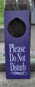 Please Do Not Disturb Door Knob Hanger Wood Vinyl Sign Professional Office Supplies Business Sign Waiting Room Sign Notice Salon Spa Decor - Heartfelt Giver
