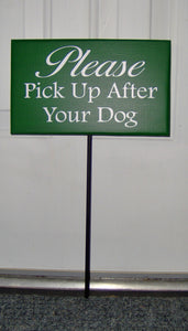 Please Pick Up After Dog Wood Vinyl Stake Sign Pet Supplies No Dog Poop Sign Dog Wood Sign Dog Sign Outdoor Sign Yard Art Dog Lover Gift - Heartfelt Giver