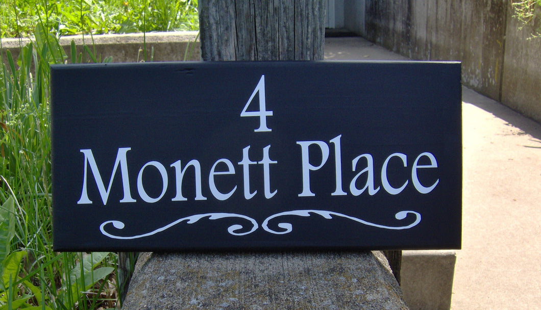 House Number Street Address Wood Vinyl Sign Street Name Outdoor Garage Sign Driveway Sign Yard Sign Porch Sign Home Decor Office Entryway - Heartfelt Giver