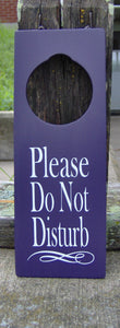 Please Do Not Disturb Door Knob Hanger Wood Vinyl Sign Professional Office Supplies Business Sign Waiting Room Sign Notice Salon Spa Decor
