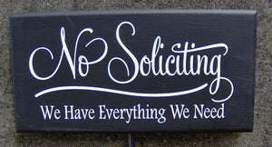 No Soliciting Have Everything Need Wood Vinyl Sign Yard Stake Porch Sign Garden Decorations Privacy Sign Yard Sign Outdoor House Decor Retro - Heartfelt Giver