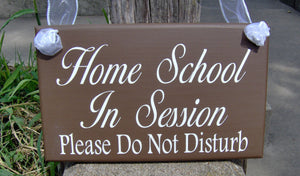 Home School In Session Please Do Not Disturb Wood Vinyl Door Sign Back to School Wooden Plaque Wall Decor Porch Signs Classroom Sign Decor